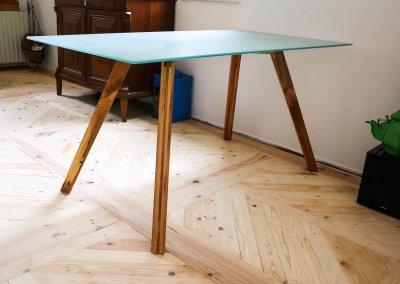 Tafel glas en hout (3)