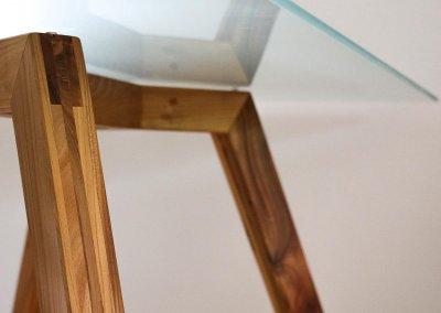 Tafel glas en hout-p
